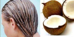 Aceite de coco en el cabello