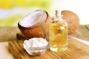 Aceite de coco en casa