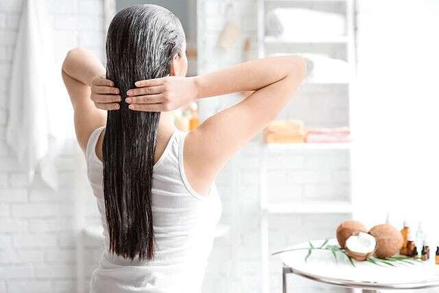 aceide coco para el cabello
